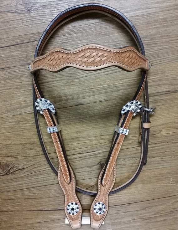 Basic Bling Scalloped Browband Headstall