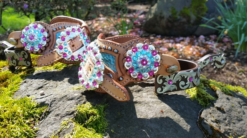 SAVE!! Mega Bling Spurs and Spur Straps!  Great Gift!