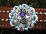 "1½"" Crystal Concho ~ Choose your Crystal Colors!"